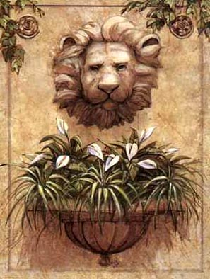 Lion wall-planter